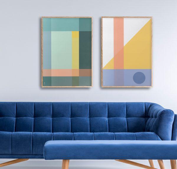 Ohoi studio grafiske plakater geometriske plakater fargerik plakat galleri