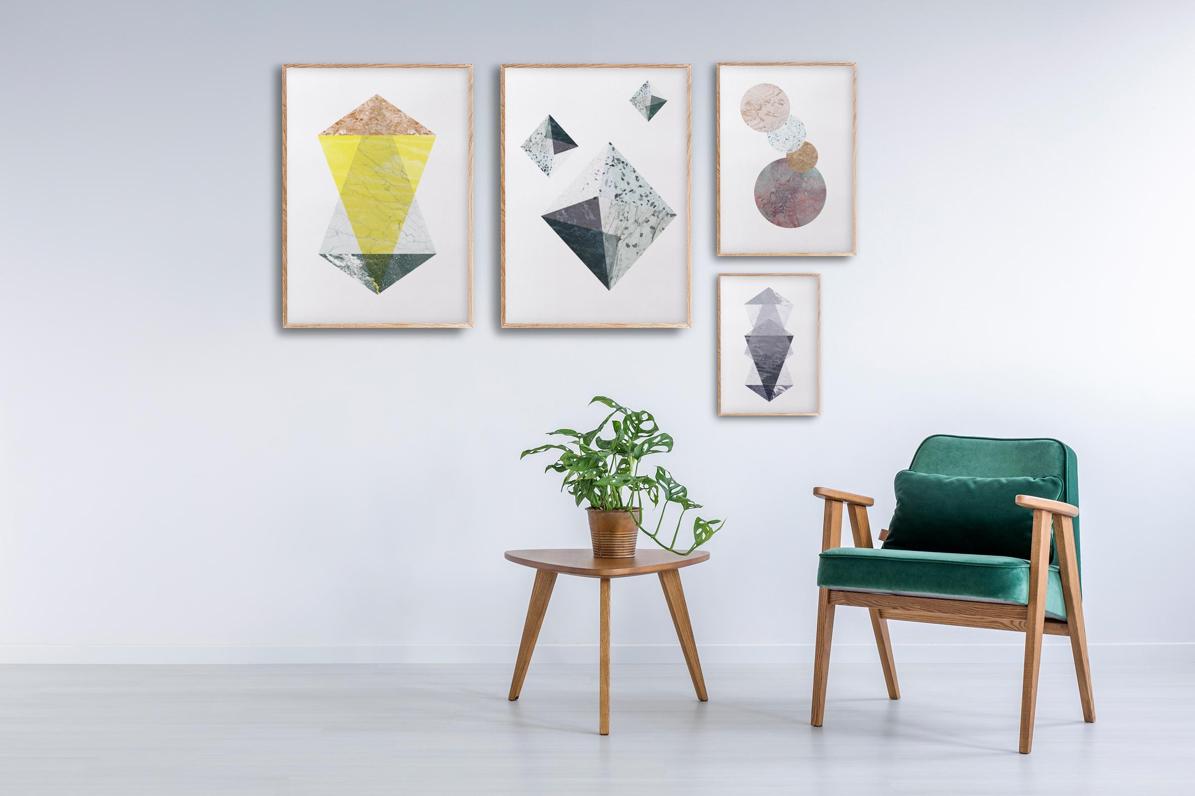 geometriske plakater   ramme   grafiske plakater   fargerik plakat   ohoi studio