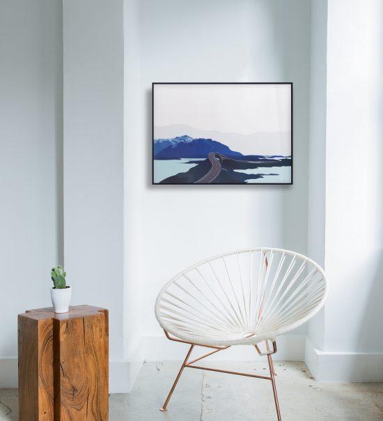 Atlanterhavsveien plakat | Bud | Averøya | Romsdal | natur | Norge | plakat | norsk natur | landskap | illustrasjon | Ohoi Studio