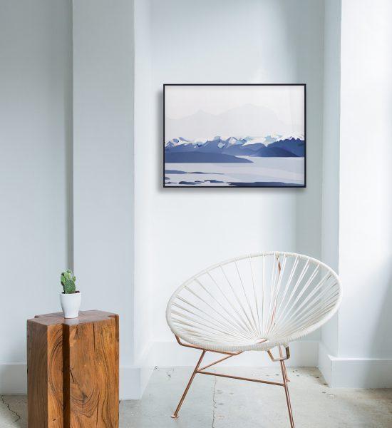 Moldefjorden no. 02 plakat | moldepanorama | Romsdal | natur | Norge | plakat | norsk natur | landskap | illustrasjon | Ohoi Studio
