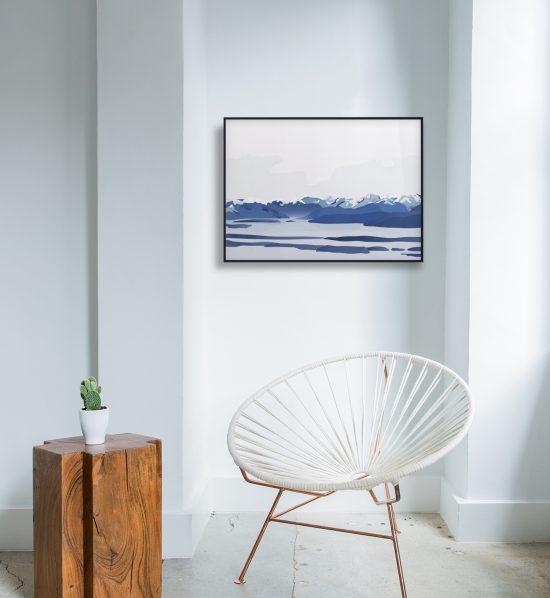 Moldefjorden no. 01 plakat | moldepanorama | Romsdal | natur | Norge | plakat | norsk natur | landskap | illustrasjon | Ohoi Studio