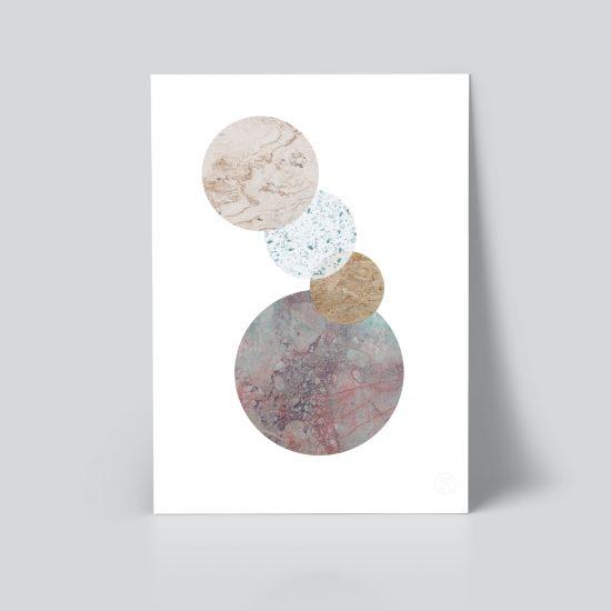 Connected plakat | grafisk plakat | geometri plakat | tekstur | Ohoi Studio