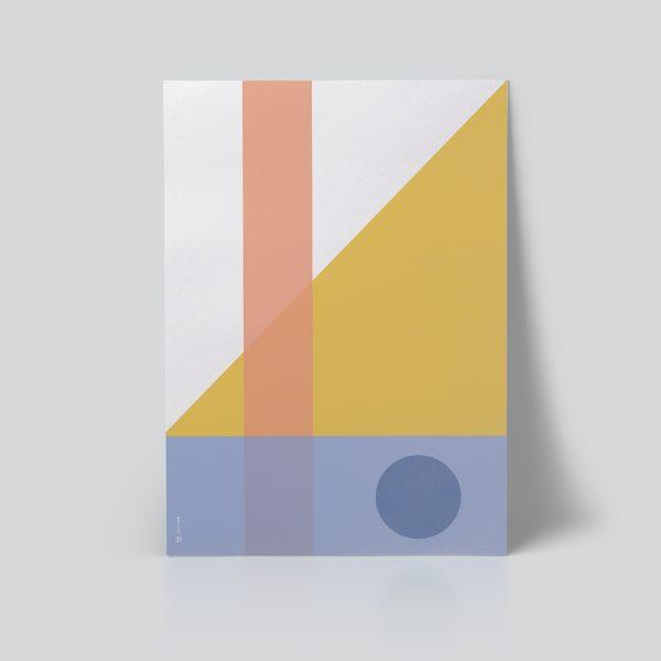 Geo Comp no. 01 plakat | geometri plakat | grafisk plakat | fargerik plakat | ohoi studio